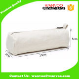 Custom Cream Blank Canvas Cosmetic Bag Rectangle Makeup Pouch
