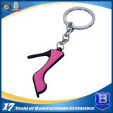 High-Heeled Shoes Metal Keychain with Black Nickel Finish (Ele-K073)