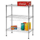 "Wire Shelving with Size 24"" Width X 30"" Height X 14"" Depth, 3 Shelves, Chrome"