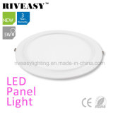 2017 New Product Electroplated Aluminum 5W White LED Panel Light