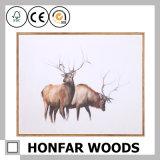 Brown Wood Frame Animal Decoration Art Painting