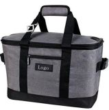 Snapbasket 50 Can, Soft-Sided Collapsible Cooler: 30 Liter Insulated Tote Bag, Heathered Charcoal/Black