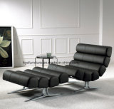 Black Color Leather Leisure Chair Living Room Furniture (T092)
