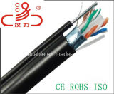 CAT6 FTP Outdoor with Messenger Cable/Computer Cable/ Data Cable/ Communication Cable/ Connector/ Audio Cable