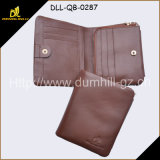 Soft Genuine Leather Euro Brown Bifold Men Wallet with Special Craft