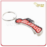Metal Bottle Opener Key Ring with Domed Sticker Logo
