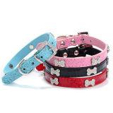 Design Faux Snakeskin Bones PU Leather Pet Collars&Leashes