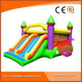 Giant Dual Slide Inflatable Jumping Obstacle Bounce House Castle (T2-302)