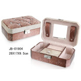 Luxury Packing Gift PU Leather Cosmetic Jewellery Box Jewelry Case