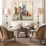 Modern Abstract Style Huge Canvas Horse Wall Hangings Mural Art Home Decor Custom Canvas Print