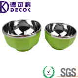 Wholesale High-End Stainless Steel Bowl with No Lid, 13cm&15cm, Best for Gifts, Children Bowls Set