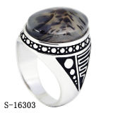 New Model Fashion Jewelry Agate Ring Silver 925