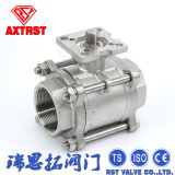 3PC Stainless Steel ISO5211 Mounting Pad Ball Valve
