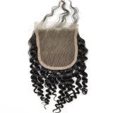 Curly Free Part Virgin Human Hair Lace Closure Lbh 200