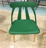 Outdoor Plastic Wood Leg Plastic Dining Chair for Banquet