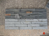 Natural Black Slate Culture Stone for Interior Wall