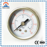 Axial Mounted General Manometer 1.5 Inches Stainless Steel Pressure Gauge
