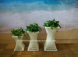 Outdoor Garden Rattan Flower Pot / Planter