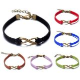 Fashion Custom Metal Charm Double Leather Bracelet