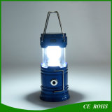 Foldable Solar Camping Torch Emergency Light Rechargeable Solar Lantern with USB Output Function