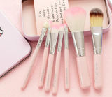 High Quality Pink Flat Wool Brush Set