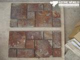 Mesh Rusty Slate Mosaic Tiles for Wall/Flooring (mm074)