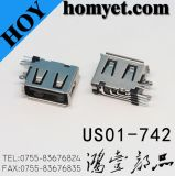 USB 2.0 Female Connector with DIP Mounting on Side (US01-742)