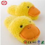 Cute Yellow Duck Plush Fluffy Soft Stuffed Slipper for Kids