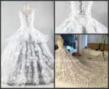 Sleeves Bridal Ball Gowns Custom Made Real Photos Silver Flora Wedding Gown 2017 Gl1728