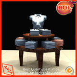 Wooden Round Display Table for T Shirts