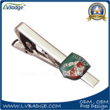 Custom Printed Logo Tie Clip with Badge