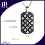 Black Oil Enamel 316L Stainless Steel Tag Pendant