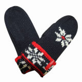 Women Fashion Acrylic Knitted Winter Warm Mittens (YKY5429)