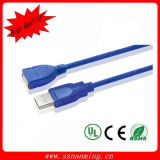 USB 2.0 a Male to USB 2.0 a Female Extension Data Cable - Blue (100cm)