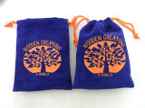 Custom Printed Drawing Velvet Pouch Fabric Gift Bags