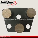 Diamond Grinding Shoes with Round Segments for Concrete Floor Polishing