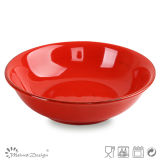 23cm Red Ceramic Soup Plate