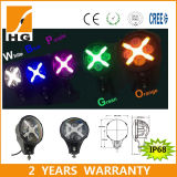 White Blue Purple Green Orange Angel Eye LED Headlight