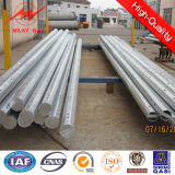 Octogonal 11.8m Galvanized Metal Power Pole with Cross Arm