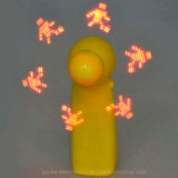 Yellow LED Flash Light Toy Fan with Logo Printed (3509)