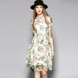 Wholesale Women Pale Green Sweet Ladies Party Dress