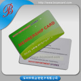 PVC Membership Card with Embossing Number