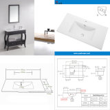 Middle Side Rectangular Bathroom Washing Vanity Sinkwith Cupc (SN1548-90)