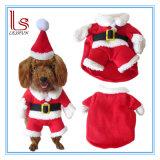 Christmas Decoration Pet Product Santa Claus Dog Coat/ Pet Clothing