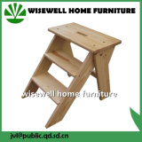 Solid Pinewood 3 Step Small Wood Stool