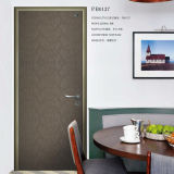 Cheap Bedroom Wooden Door, Aluminum Swing Door, Vneer Wood Door