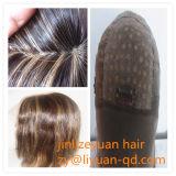 "Straight Virgin European Human Hair Wig Silk Top 5""*5"" Full Lace Wig"