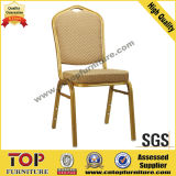 Hotel Gold Painting Stackable Metal Banquet Chair