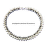 New Elegant Double Similate Pearl Short Necklace Jewelry