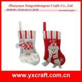 Christmas Decoration (ZY13L233-1-2 22CM) Christmas Small Gift Sock
